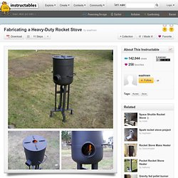 Rocket stove rocket stove estufas especiales pearltrees for Heavy duty rocket stove