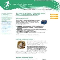 Les étapes de fabrication d'une prothèse dans le service de rééducation et d'appareillage - Institut Robert Merle d'Aubigné - Valenton