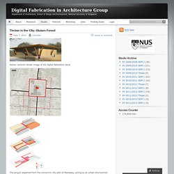 Studio « Digital Fabrication in Architecture Group