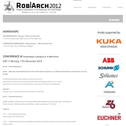 Rob|Arch 2012 - Robotic Fabrication in Architecture, Art, and Design
