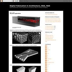 3D print exploration
