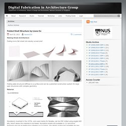 Digital Fabrication in Architecture Group