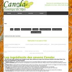 Fabrication artisanale des savons Canola