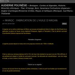 Maroc : fabrication de l'huile d'argan - Audierne Polynésie