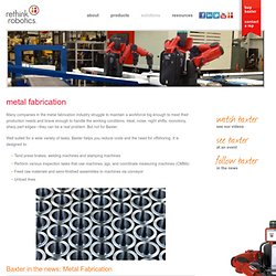 Metal Fabrication Material Handling Automation Robots
