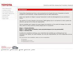 Toyota recrute