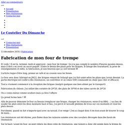 Fabrication de mon four de trempe - Le Coutelier Du Dimanche