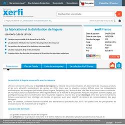 Etude de marché fabrication et distribution lingerie Xerfi