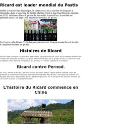 Fabrication du Ricard