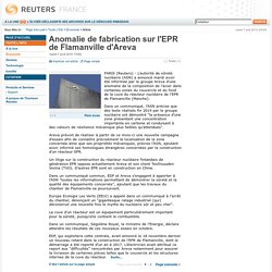 Anomalie de fabrication sur l'EPR de Flamanville d'Areva