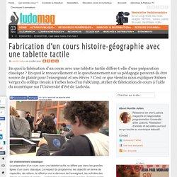 Fabrication d'un cours histoire-géographie avec une tablette tactile