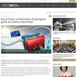 Record dans la fabrication d'hydrogène grâce au solaire à Neuchâtel