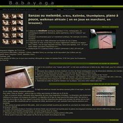 fabrication d'instruments de musique: sanzas