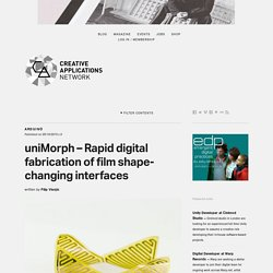 uniMorph - Rapid digital fabrication of film shape-changing interfaces / @medialab
