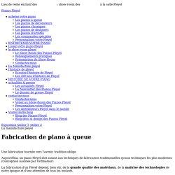 Fabrication de piano à queue à la manufacture Pleyel – Pleyel, Pianos de luxe français