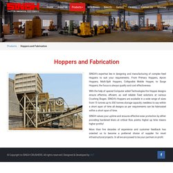 Hoppers and Fabrication Design and Manufacturer