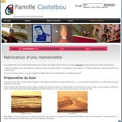 Castelbou - Fabrication d'une marionnette