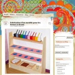 Fabrication d'un meuble pour les formes à dessin - Le coin Montessori
