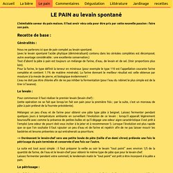 Fabrication du pain