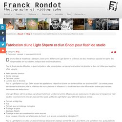 Fabrication d'une Light Shpere et d'un Snoot pour flash de studio - www.franck-rondot.com - Photographe et videographe