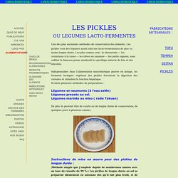 fabrication des pickles