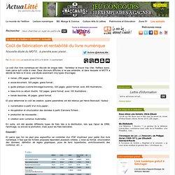Coût de fabrication et rentabilité du livre numérique