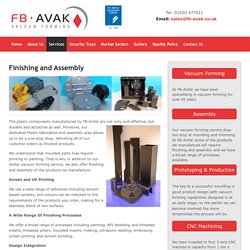 Plastic fabrication and assembly