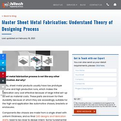 Master Sheet Metal Fabrication; Understand Theory of Designing Process