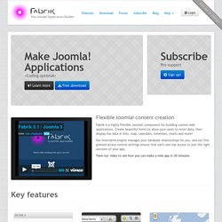 Fabrik - The Joomla Application Builder