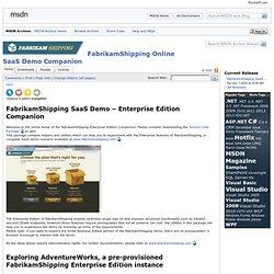 FabrikamShipping Online SaaS Demo Companion