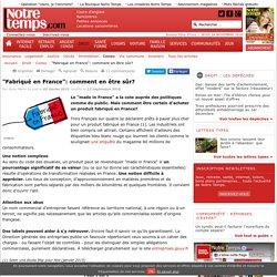 """""""Fabriqué en France"""": comment en être sûr? - 12/09/16"""