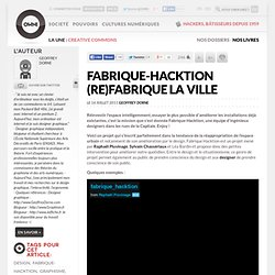 Fabrique-Hacktion (re)fabrique la ville