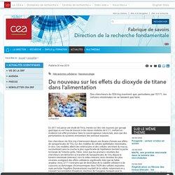 Fabrique de savoirs - Du nouveau sur les effets du dioxyde de titane dans l'alimentation