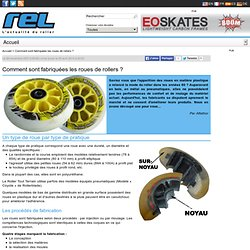 Comment sont fabriquées les roues de rollers