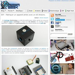 Fabriquer un appareil photo avec un kit Arduino.