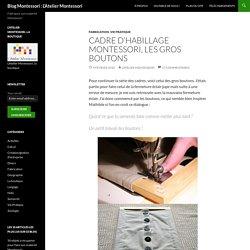 Fabriquer le cadre des boutons Montessori Vie Pratique