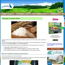 Fabriquer sa propre farine