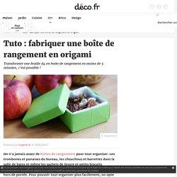 Tuto : fabriquer une boîte de rangement en origami