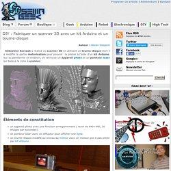 Fabriquer un scanner 3D avec un kit Arduino et un tourne-disque