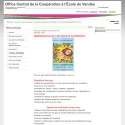 Fabriquer un jeu de société coopératif (AD 72 et 91)