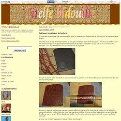 fabriquer une plaque de texture - Titelfe bidouille