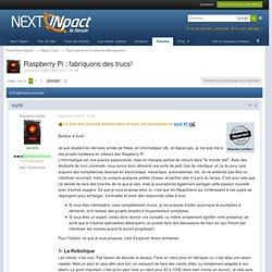 Raspberry Pi : fabriquons des trucs! - Topics perso et Community Management