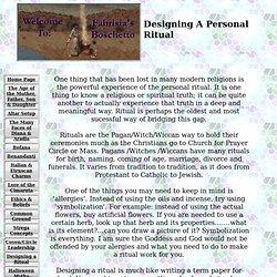 s Boschetto - Designing A Personal Ritual