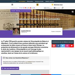 La fabuleuse histoire de l'Encyclopédie