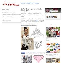 34 Fabuleux Patrons de Chales au Crochet - Crochet et plus...Crochet et plus…