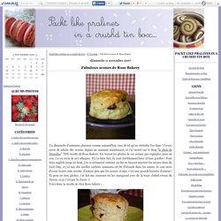 Fabuleux scones de Rose Bakery - Packt like pralines in a crushd tin box