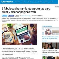 6 fabulosas herramientas gratuitas para crear páginas web