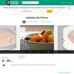 Fabulous Beef Stew Recipe