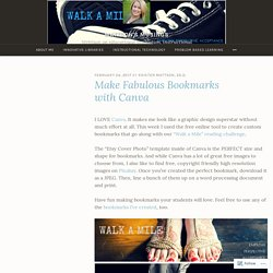 Make Fabulous Bookmarks with Canva – Mattson's Musings