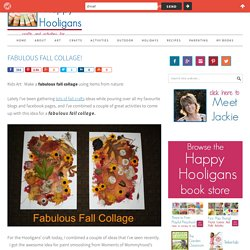 fabulous fall collage - happy hooligans - nature collage art for kids